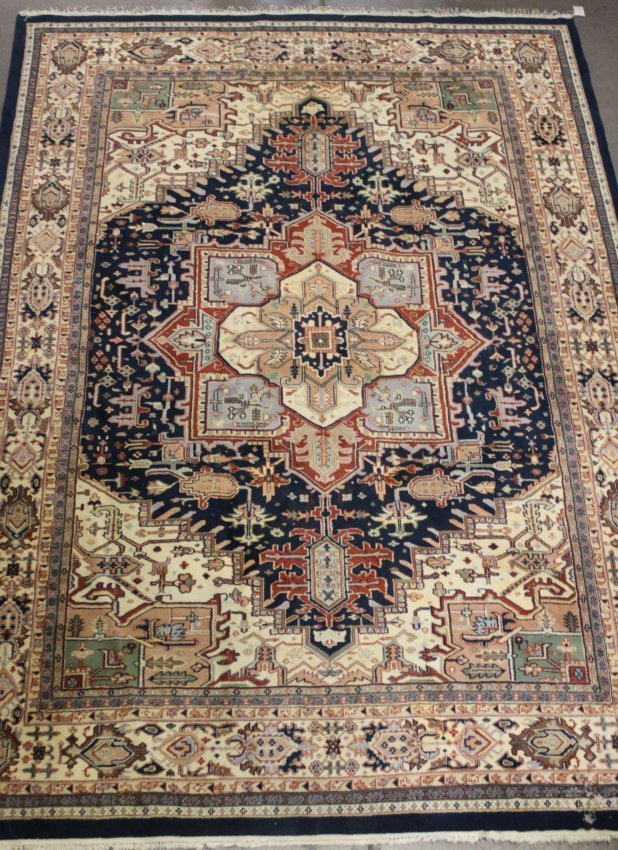 "Fine Hand Made Persian Isfahan Wool Rug 8'10 X 11'8"""