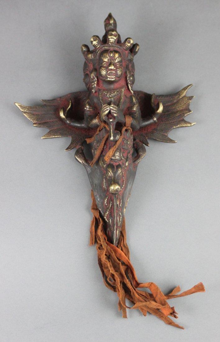 Nepal Bronze Phurba Sacred Ceremonial Dagger