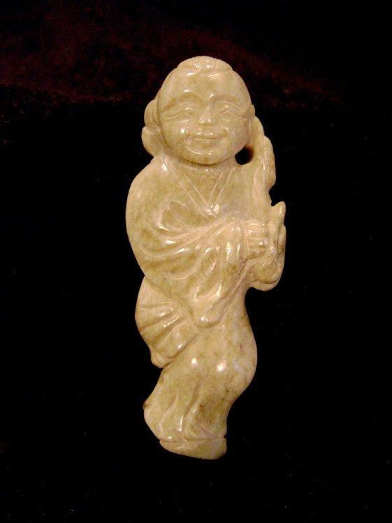 """Jade """"The best boy"""" Ornament Qing Dynasty"""