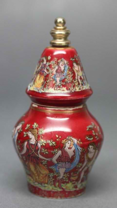 Antique European Porcelain Red Snuff Bottle