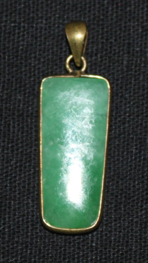 "Antique Chinese Carved ""A"" Grade Jade Pendant Amulet"