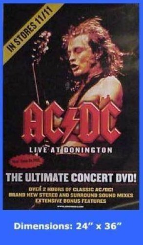 AC/DC - LIVE AT DONNINGTON DVD 24x36 POSTER P1788