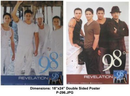 98 DEGREES REVELATION 18x24 DOUBLE SIDED POSTER P296