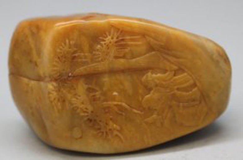 Antique Tian Huang Chinese Carved Boulder Landscapes