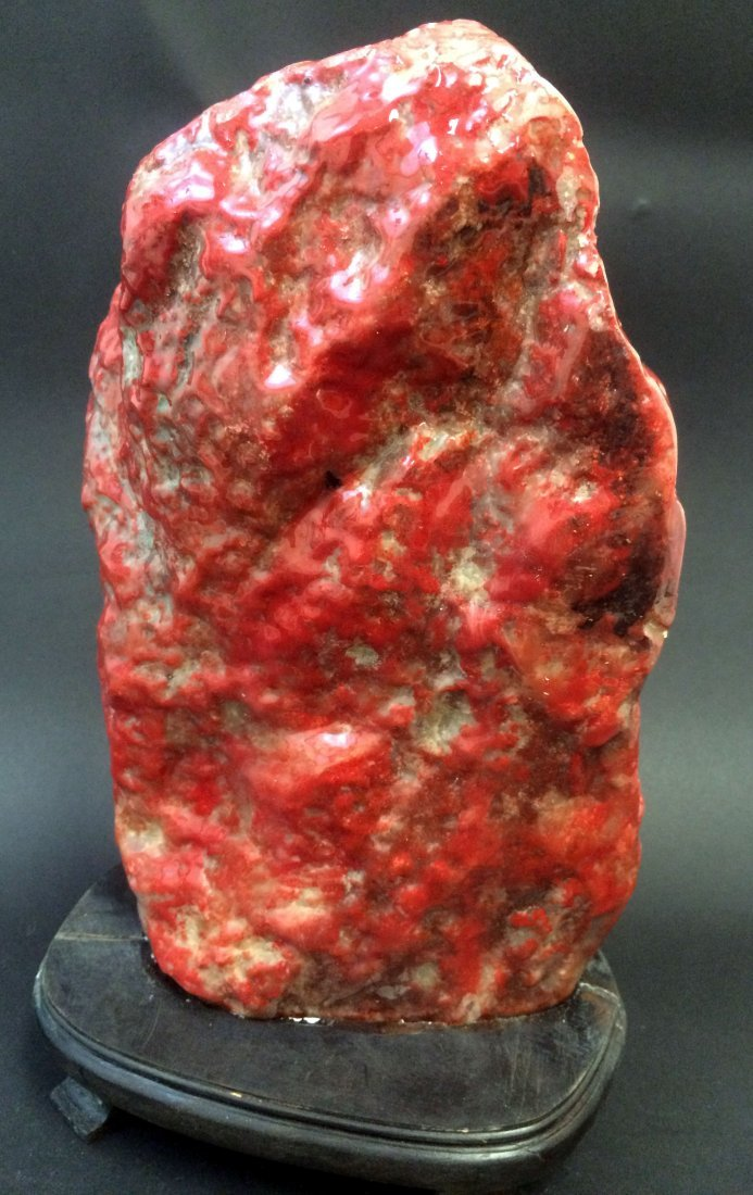 Chinese Large Chickenblood Soapstone Boulder