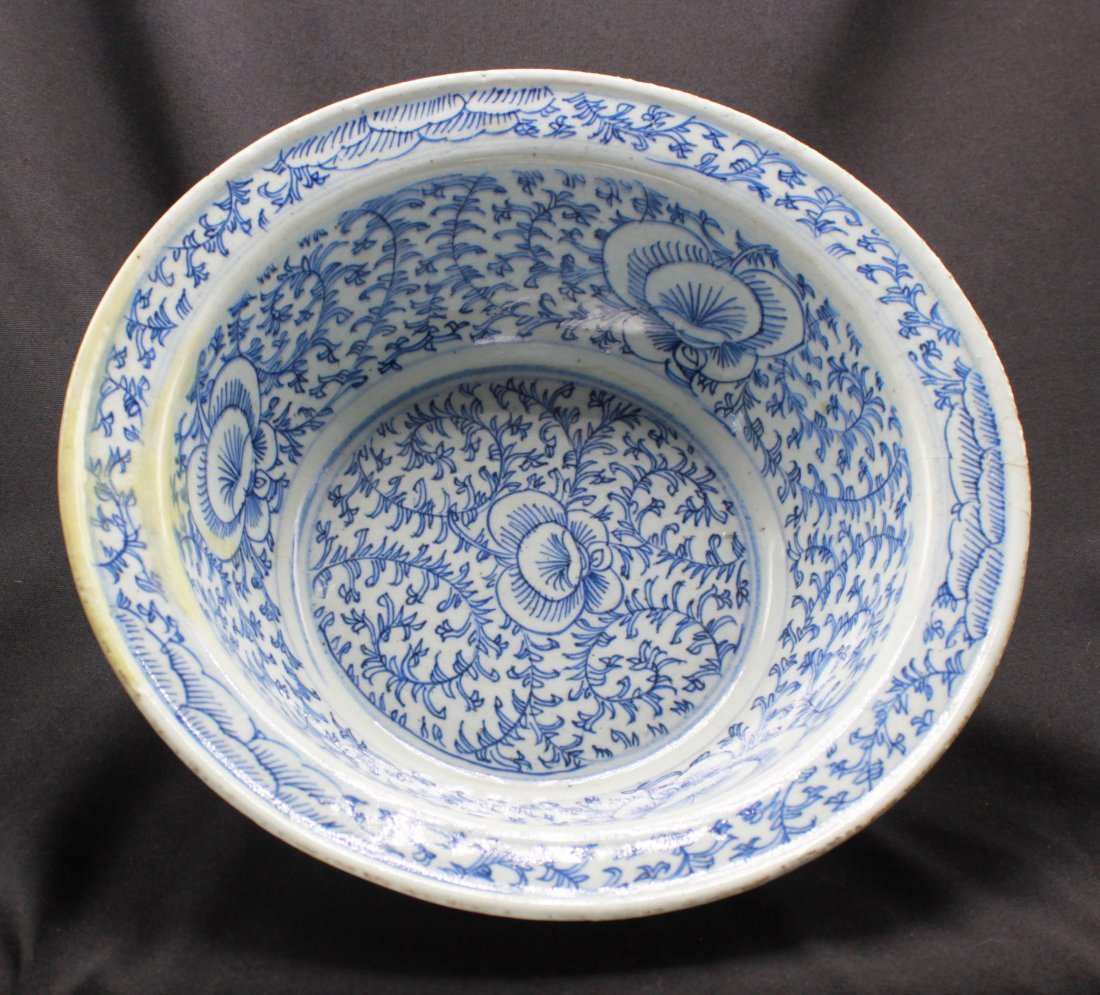 Antique White and Blue Hand Wash Bowl Chin Dynasty