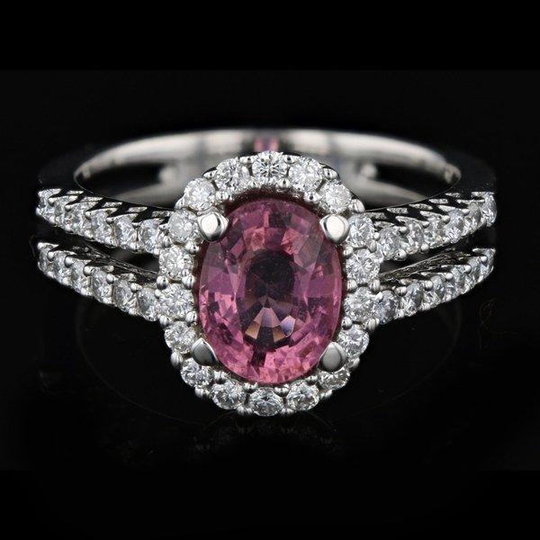 18k Gold 1.31CT Sapphire 0.54CT Diamond Ring