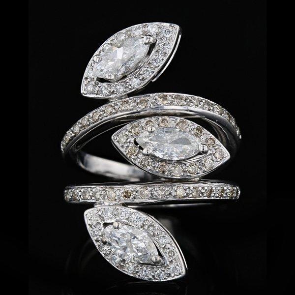 18k W Gold 2.47CT Diamond Ring