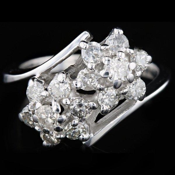 14k W Gold 0.85CTW Diamond Ring