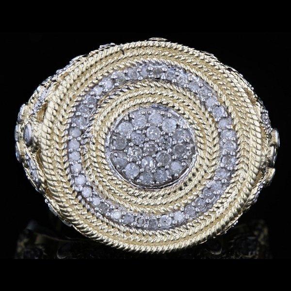 14k Y Gold 1.66CTW Diamond Ring
