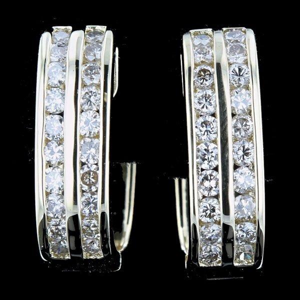18k YGold 1.22CTW Channel Set Lt Brown Diamond Earrings
