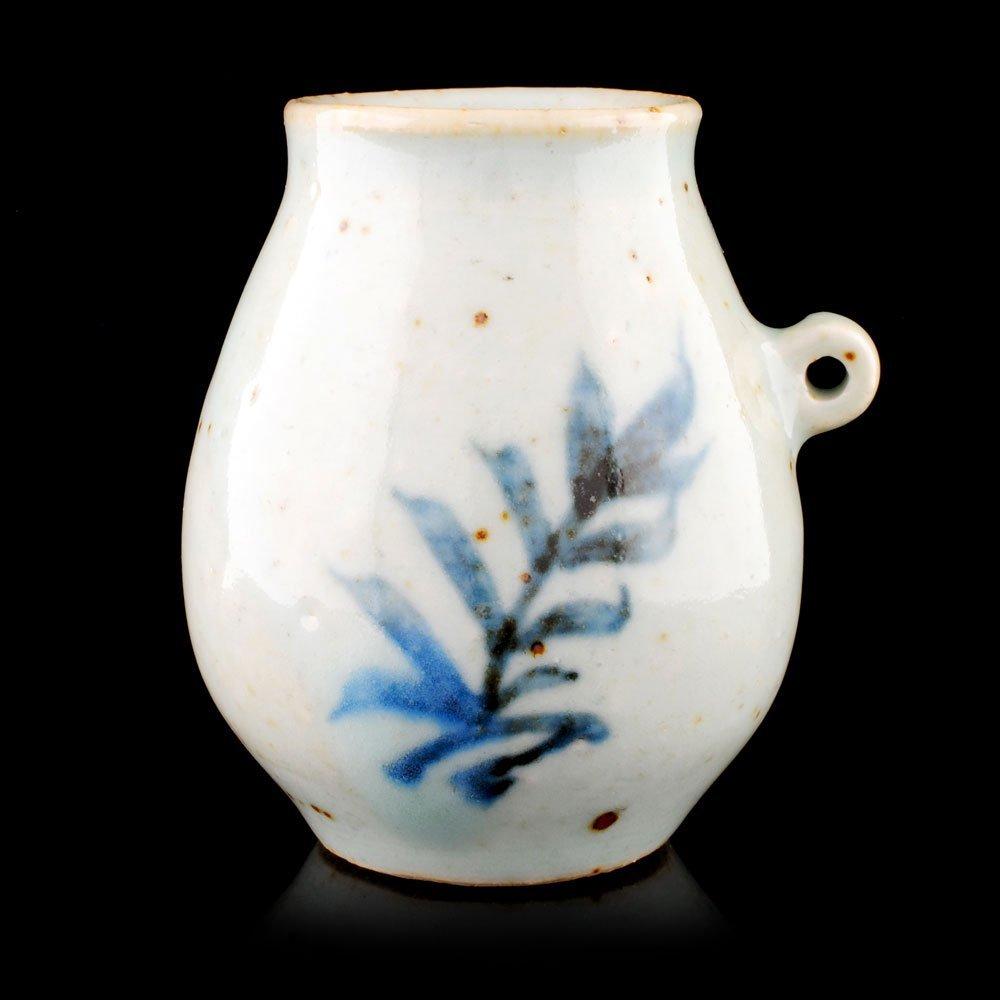 Ming Dynasty Blue/White w Red, Underglaze Bird