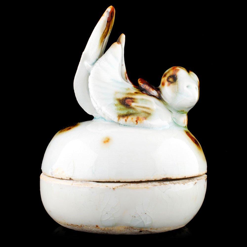 Chinese yuan dynasty lidded bird box