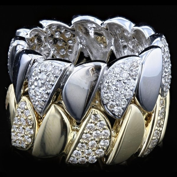 18k Two Tone Gold 1.63CTW Diamond Ring