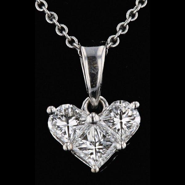 14k Gold 0.42CTW Heart Shape G VS1 Diamond Pendant