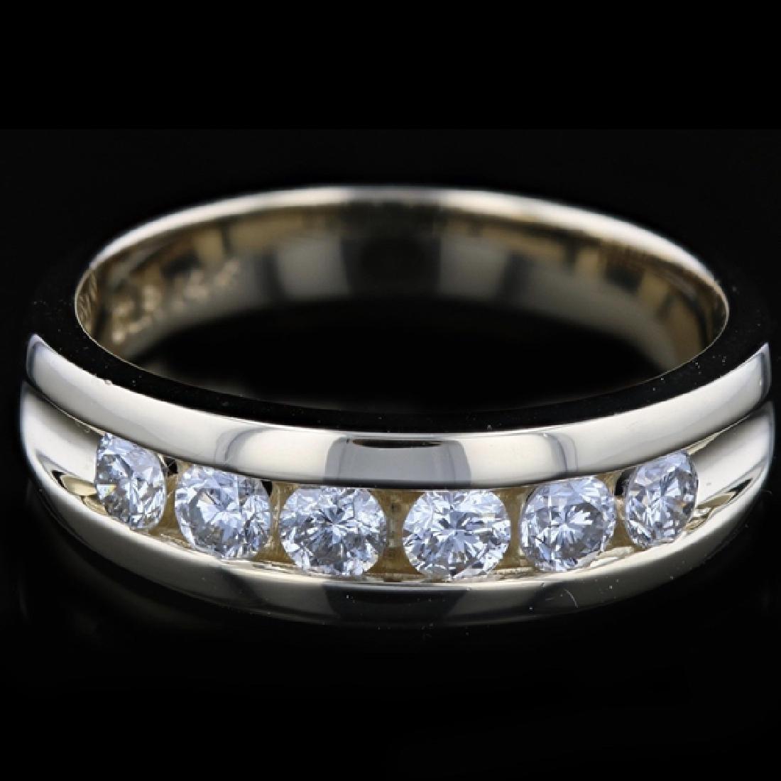 14k Y Gold 0.92CTW Diamond Ring