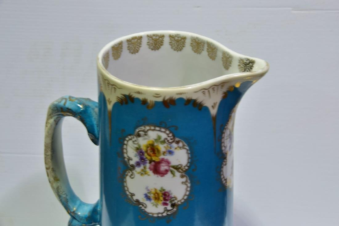 Austrian Hand Painted Pitcher - 4