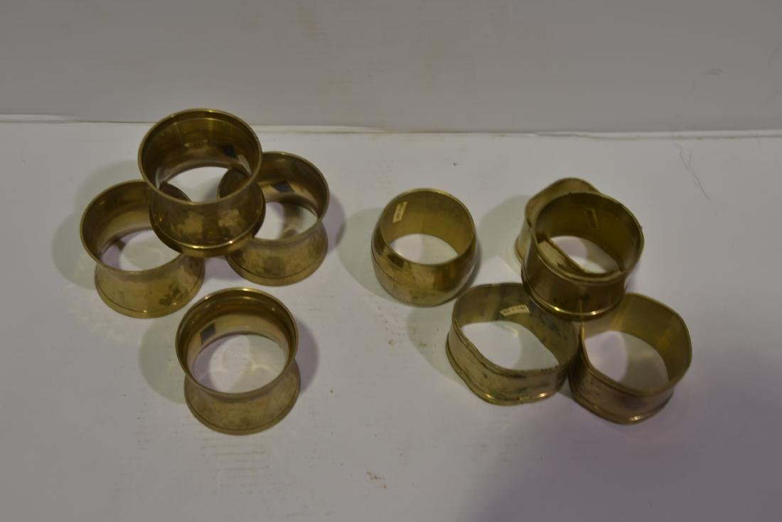 Assorted Brass Napkin Rings - Set of 9 - 2