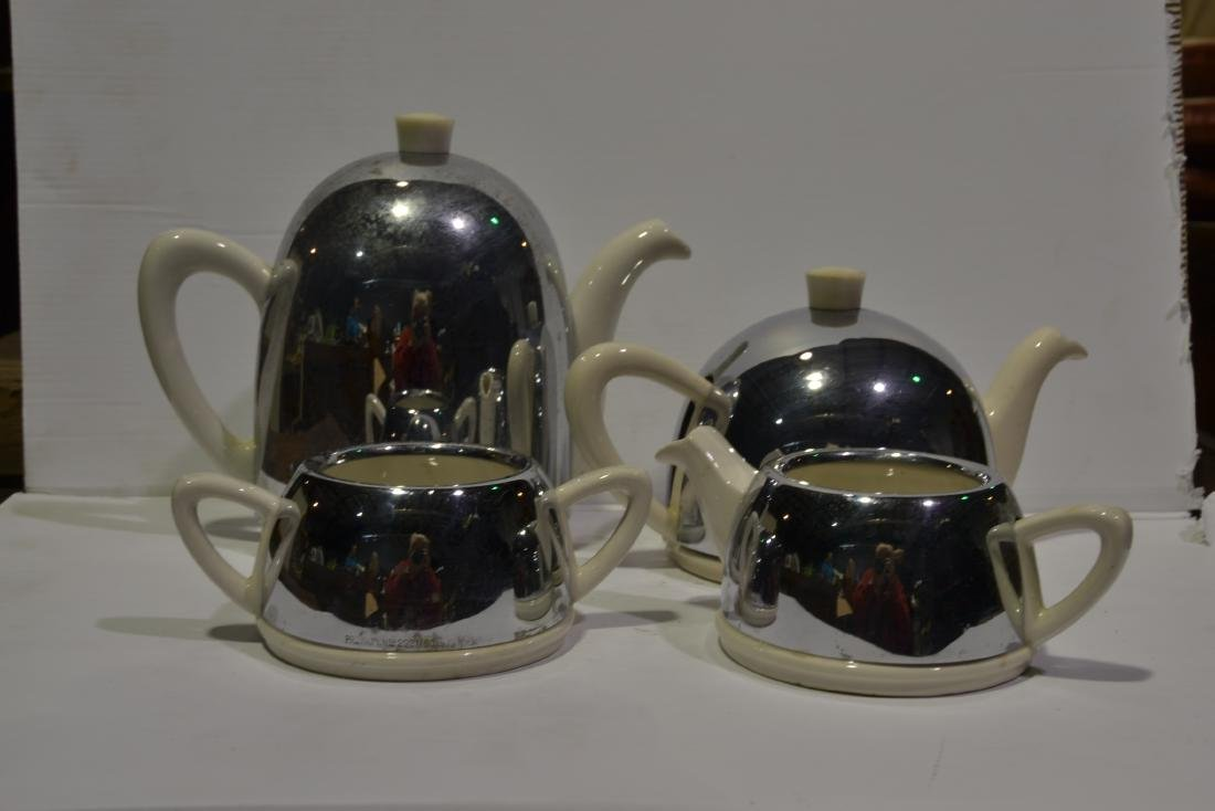 4 Pc Art Deco Tea Set