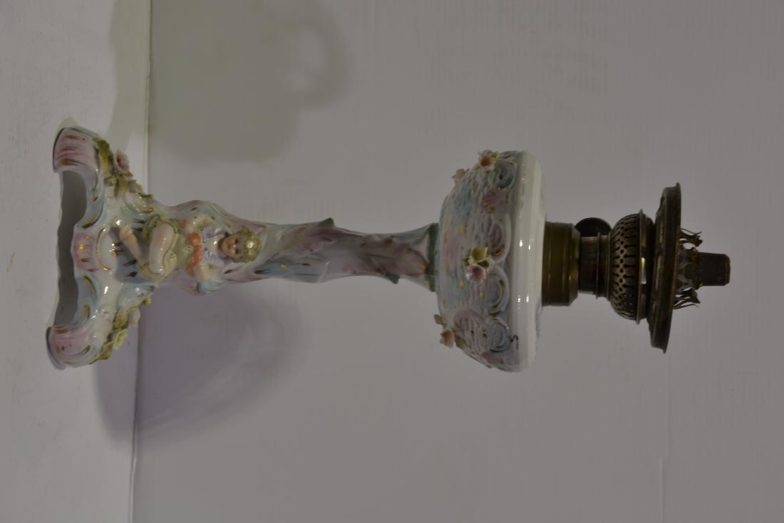 Meissen Boudoir Oil Lamp