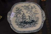 "6: Early Ironstone Platter Size: Approx 10.5"" x 9"""