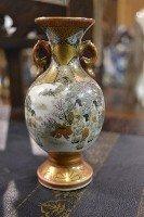 "7: Small Oriental Vase ""Satsuma"" Size: Approx 4.5"" tall"