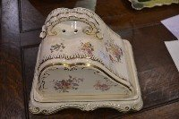 13: Victorian Floral Cheese Keeper. No Chips/Repairs Si