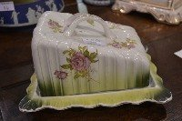 15: Victorian Floral Cheese Keeper. No Chips/Repairs Si