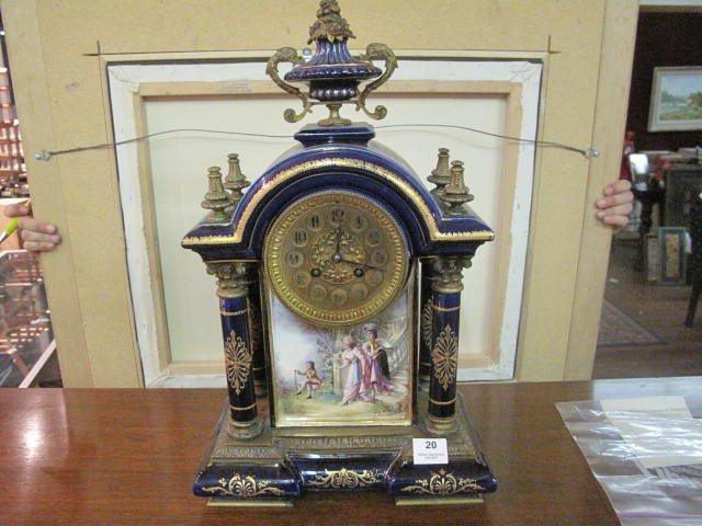 20: Antique Porcelain Clock from 1897