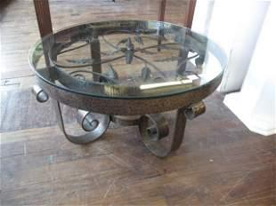 METAL GLASS TABLE