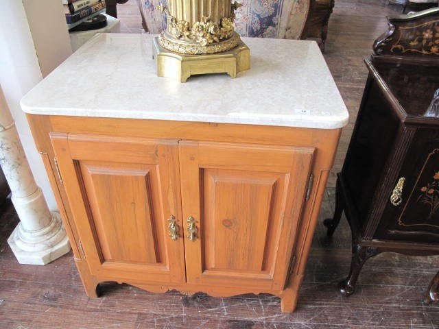 14: Pine furniture with marble top