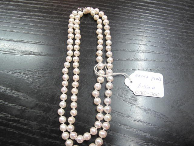 1B: Original Akoya Pearl Necklace 8mm, 32 inches