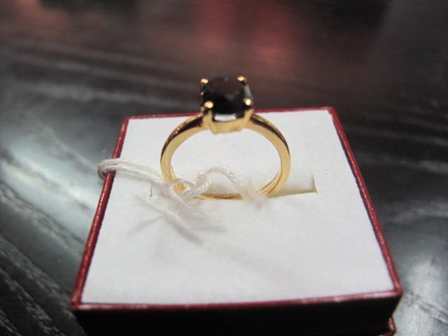 6B: Original 14K Black Diamond Gold 1.2 carat ring