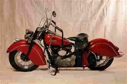 100: ORIGINAL INDIAN BIKE 1947 .  MINT CONDITION
