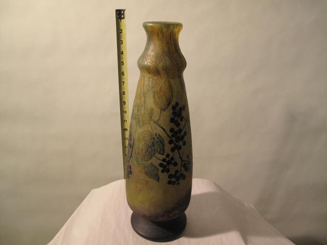 5: DAUM NANCY ART GLASS VASE FROM 1930