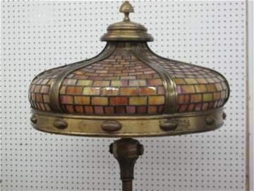 99: TIFFANY  NEW-YORK SIGNED , ARTS AND CRAFT  LAMP