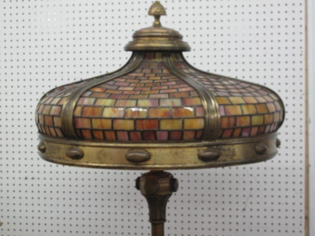 99: TIFFANY  NEW-YORK SIGNED , ARTS AND CRAFT  LAMP