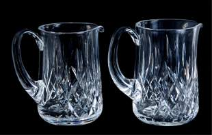 Two Waterford Crystal Lismore Pitchers
