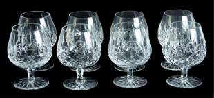 Group, 8 Waterford Crystal Lismore Brandy Snifters