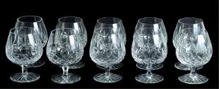 Group,10 Waterford Crystal Lismore Brandy Snifters