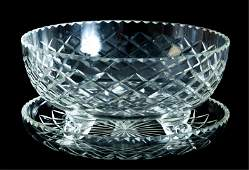 Group, 4 Pcs Cut Crystal Table Accessories