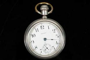 Waltham Coin Silver Swing Out Pocket Watch