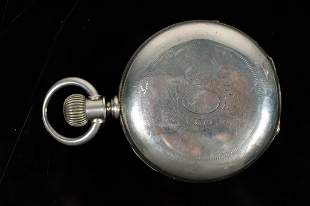 Waltham Model 1883 Coin Silver Pocket Watch
