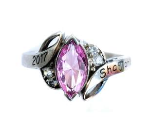 Balfour Sterling Silver & Pink Sapphire Class Ring