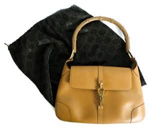 Gucci Bamboo Jackie Brown Leather Handbag