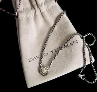 David Yurman 925 750 Diamond Pendant Necklace