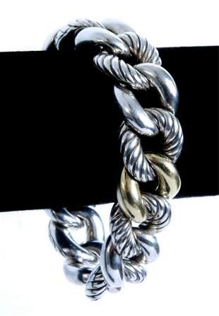 David Yurman 18K 925 Belmont Curb Link Bracelet