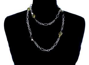 David Yurman 750 925 Figaro Link Necklace