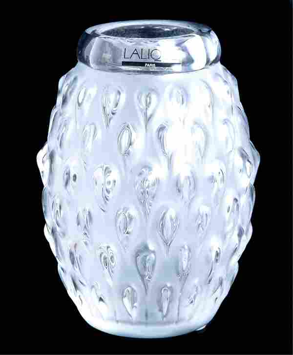 Lalique Crystal Figuera Vase Clear