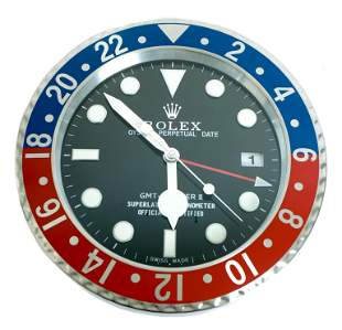 Rolex Style Advertising GMT Master II Wall Clock